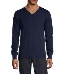 j. lindeberg men's merino-wool & cashmere sweater - blue - size s