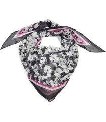 calvin klein tonal floral-print chiffon kite scarf