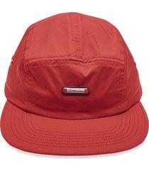 supreme logo patch camp cap - red