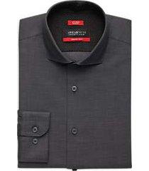 awearness kenneth cole awear-tech black slim fit dress shirt
