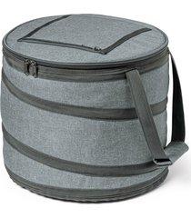 bolsa térmica flexível round topget  cinza mesclado
