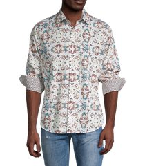 robert graham men's classic-fit printed shirt - size xxl