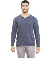 camiseta 4 ás manga longa listrada masculina