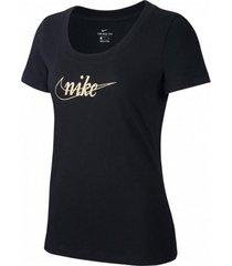 camiseta nike glitter mujer