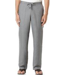 "cubavera big and tall drawstring linen-blend 30"" length pants"