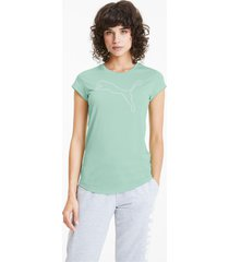 active heather t-shirt voor dames, groen, maat xxs | puma