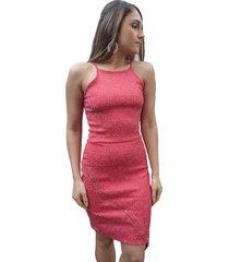 vestido bazz recorte irregular jacquard vermelho - tricae