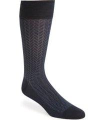 men's cole haan geometric dress socks, size one size - blue