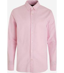 camisa logo oxford rosa banana republic