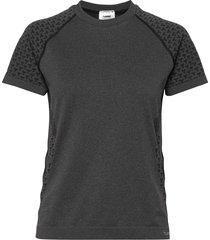 hmlci seamless t-shirt s/s t-shirts & tops short-sleeved grå hummel