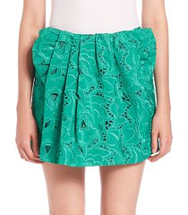 giorgina embroidered mini skirt