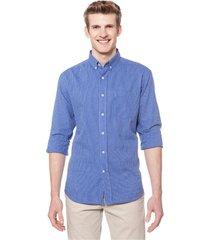 camisa azul equus amalfi classic fit