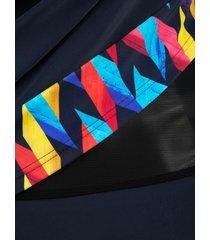 baddräkt maritim marinblå/gul/röd