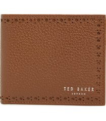 men's ted baker london leather wallet - beige
