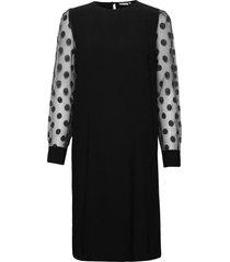 frnaburn 3 dress knälång klänning svart fransa