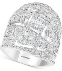 limited edition! effy diamond tiara statement ring (2-1/2 ct. t.w.) in 14k white gold