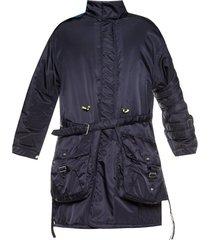 coat with logo