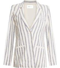 bcbgeneration striped button-front blazer