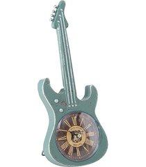 zegar stołowy gitara zielona