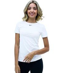 camiseta blanco nike w np top ss all over