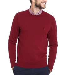 sweater slim core burdeo tommy hilfiger