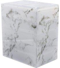 sorbus cosmetics makeup storage case medium display sets - 3 large 4 small drawers + top