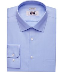 joseph abboud blue twill modern fit dress shirt