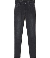 push up jeans with chain and rhinestones