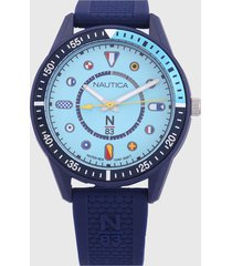 reloj azul nautica