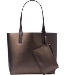 kate spade new york women's arch large reversible tote bag - metallic purple