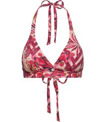 saftey halter top printed bikinitop rosa odd molly