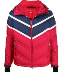 perfect moment chevron super day jacket - red