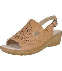 sandalia alhena confort tostado passer
