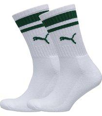 puma crew heritage stripe 2p unisex underwear socks regular socks vit puma