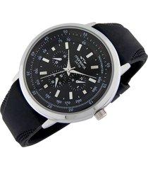 reloj negro montreal silicona