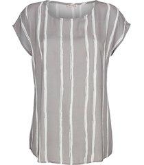 blouse alba moda taupe/offwhite
