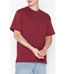 topman oversized t-shirt t-shirts & linnen burgundy