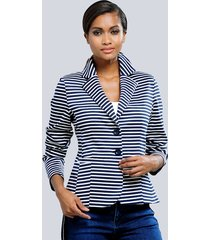 blazer alba moda marine::wit