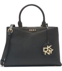 dkny dayna medium leather satchel