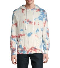trunks surf + swim men's tie-dyed terry hoodie - coral - size l