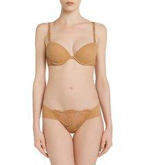 la perla women's shape-allure lace thong - nude - size xs
