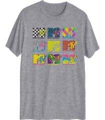 hybrid men's mtv classic wild logo t-shirt