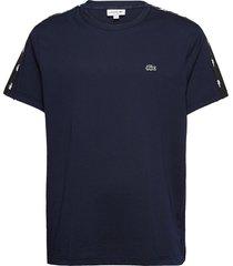 men s tee-shirt t-shirts short-sleeved blå lacoste