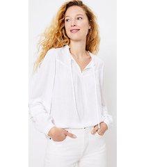 loft clip pleated sleeve blouse