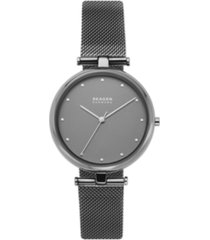 skagen women's tanja gunmetal stainless steel mesh watch 36mm