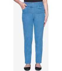 alfred dunner plus size pull on back elastic proportioned medium allure superstretch denim jean