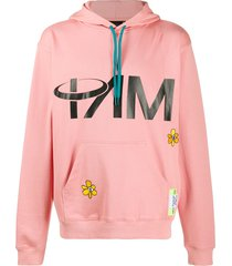perks and mini fields beyond graphic-print hoodie - pink
