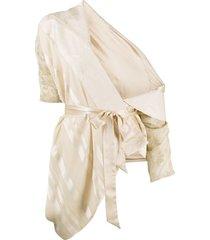 antonio marras draped jacquard jacket - neutrals