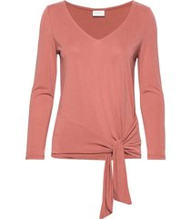viatetsy 7/8 knot t-shirt/l t-shirts & tops long-sleeved rosa vila