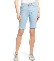 women's paige robbie high waist cutoff denim shorts, size 27 - blue